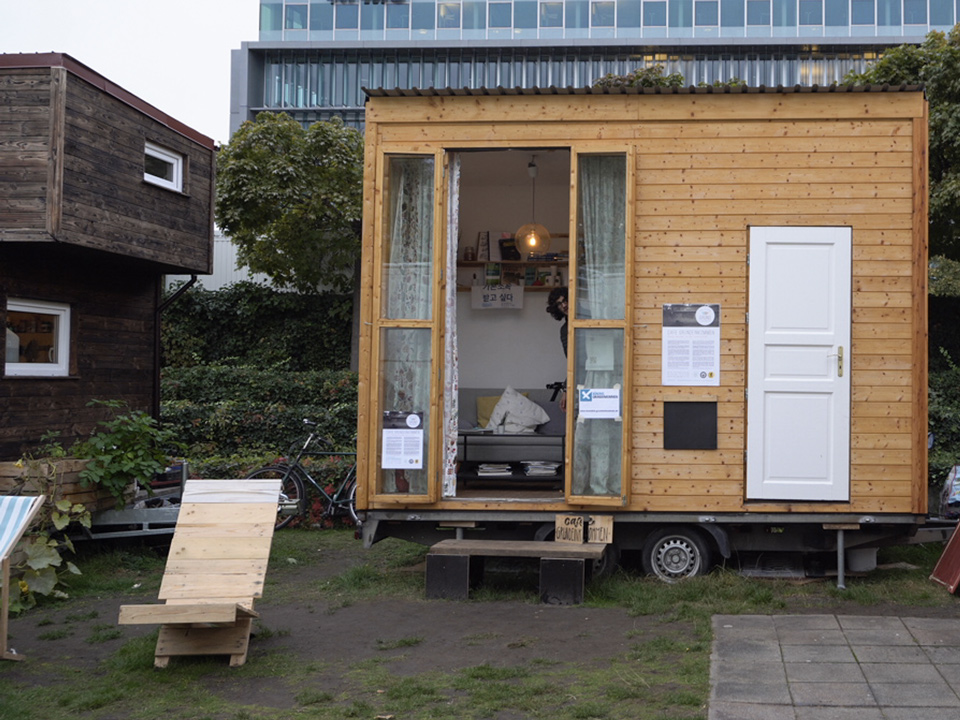 Tiny House of Cafe Grundeinkommen - Berlin's Basic Income Cafe